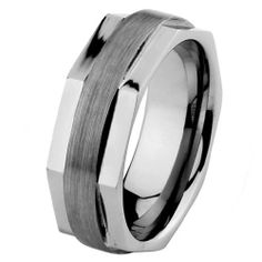 Valentines Day 8mm Beveled Faceted Cobalt Free Tungsten Carbide COMFORT-FIT Wedding Band Ring for Men and Women (Size 5 to 15) The World Jewelry Center. $18.00. scratch proof. Promptly Packaged with Free Gift Box and Gift Bag. Tungsten has a tendency to break when hit with a hard material
