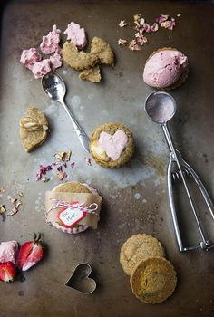 Strawberry Rosewater Ice Cream | The Bounty Hunter