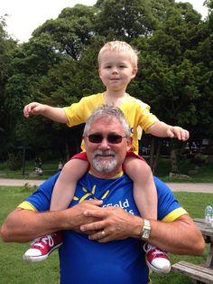 Gorgeous Corey and his grandpa Neil.