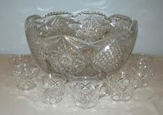old cut glass punch bowls