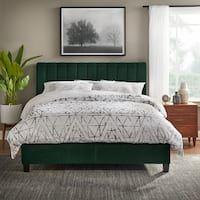 Shop Colette Platform Bed - On Sale - Overstock - 28165569 Green Headboard, Green Bedding, Bedroom Green, Emerald Green Bedrooms, Emerald Bedroom, Headboard Frame, Decoration Bedroom, Bedroom Furniture Stores, Furniture Deals
