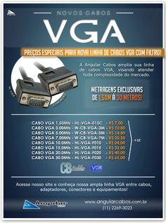 Nova Linha de cabos VGA com filtro. Excelentes preços no mercado!