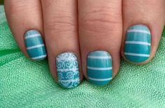 Simply Sweet with a white romance accent,  both current, topped with TruShine gel can find these and more amazing wraps and lacquers at donnasharp123.jamberry.com