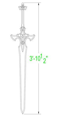 Sword Art Online: Excalibur Template by Solvash on DeviantArt Sword Art Online Weapons, Sword Art Online Cosplay, Inspiration Drawing, Instruções Origami, Sword Drawing, Knife Patterns, Master Sword, Sword Design, Cosplay Diy