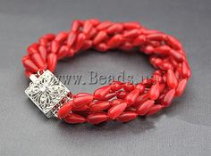 Coral Bracelet http://www.beads.us/es/producto/Coral-natural-Pulsera_p91783.html