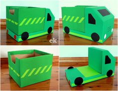Thanks for your interest in our box vehicles and for your patience while waiting for this tutorial. These larger trucks eachuse 1.5 nappy/diaper boxes, for cars using only one box see Part 1 &#821…
