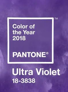 Color of the year 2018, Ultra violet. Pantone