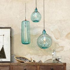 Sundance Catalog. SALON BLEU GLASS DEMIJOHN PENDANT