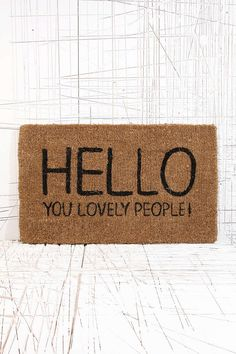 Lovely People Doormat - Urban Outfitters
