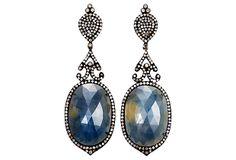 Amrapali | Sapphire & Diamond Drop Earrings