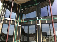 Installed windows in the panel walls. Panel Walls, Netherlands, Fair Grounds, Construction, Windows, House, The Nederlands, Building, The Netherlands