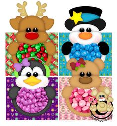 Candy Boxes Christmas - Treasure Box Designs Patterns & Cutting Files (SVG,WPC,GSD,DXF,AI,JPEG)
