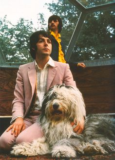 Ringo, Paul and Paul's dog, Martha