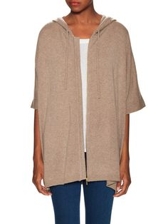 Hooded Cashmere Poncho by Barrow