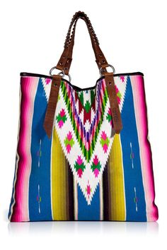 Eclectic Bag ❤ Totem; made from a colorfull Mexican blanket