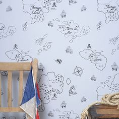 Happy Wallpapers by Hibou Home / The English Room Blog