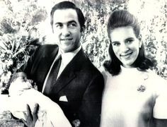 thegreekroyals:  November 1969-King Constantine, Queen Anne-Marie, and baby Prince Nikolaos