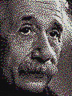 Albert Einstain #quercetti #pixelart
