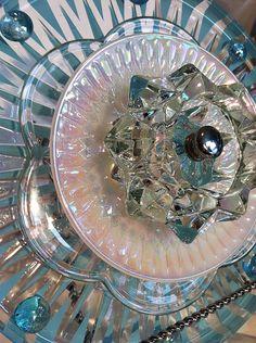 Beautiful Vintage Glass Garden Flowers ...................... by BowKnott (Etsy)