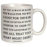 Stash tea mug with Irish blessing