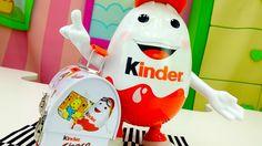 КИНДЕР сюрприз видео для детей: Kinder SURPRISE идет на фитнес. Игры для...