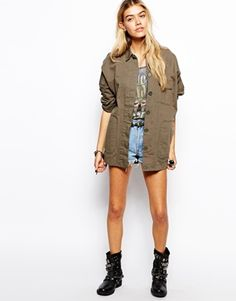 Enlarge ASOS Batwing Cotton Jacket