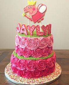 Crumbs by Caitlin - Peppa Pig Cake !  #crumbsbycaitlin #peppapig #peppapigcake…