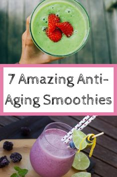 7 Amazing Anti-Aging Smoothies for beautiful skin . - 7 Amazing Anti-Aging Smoothies for beautiful skin . Smoothie Drinks, Healthy Smoothies, Healthy Drinks, Smoothie Recipes, Vitamix Recipes, Eating Healthy, Cleansing Smoothies, Clean Eating, Avocado Smoothie