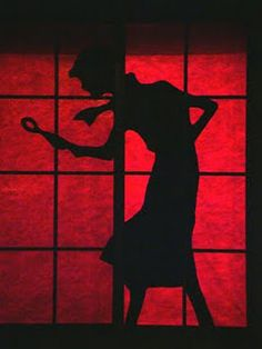 Large Nancy Drew silhouette for the window, great for Halloween or parties!