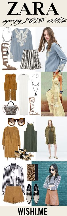 You NEED these outfits for any sunny festival day. Zara is hitting a home run with their spring 2015 collection. You can style these items from your own closet just in time for Coachella!