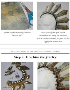 Akasha Headdress Tutorial | Etsy Quick Halloween Costumes, Queen Of The Damned, Waist Jewelry, Order Confirmation Email, Cosplay Tutorial, Crystal Clear Water, Circlet, Hollywood Fashion, Headdress