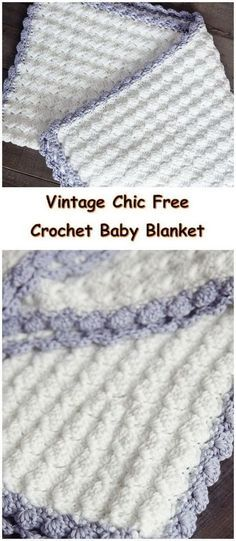 Vintage Chic Free Crochet Baby Blanket Pattern.