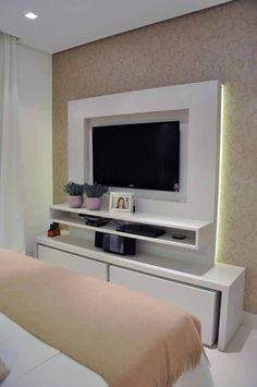painel para tv quarto casal pequeno - Buscar con Google