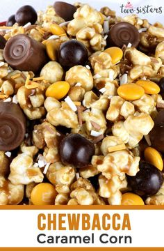 Homemade and delicious, Chewbacca Caramel Corn is so easy to make. Make a batch for the Wookies in your life! Popcorn Snacks, Popcorn Recipes, Candy Recipes, Gourmet Recipes, Snack Recipes, Dessert Recipes, Cooking Recipes, Homemade Popcorn, Popcorn Balls