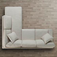 Grey Sectional Sofa With Chaise Condo Living Room, Beach House Living Room, Sofas For Small Spaces, Best Sofa, Sofa Design, Corner Sofa Design, Sectional Sofa, Small Room Sofa, Furniture