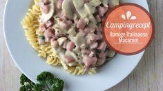 Campingrecept - Romige Italiaanse macaroni