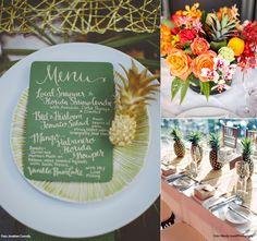 Tendência: Decoração tropical com abacaxis | Mariée: Inspiração para Noivas e Casamentos
