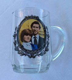 Lady Diana Spencer Prince of Wales Royal Wedding Commemorative Glass Mug 1981   eBay