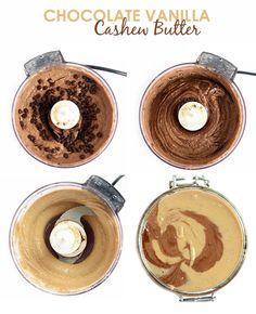 Chocolate Vanilla Swirl Cashew Butter | FitFoodieFinds.com