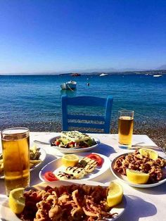 💙 There's no place like Greece and delicious Greek food Paros Greece, Santorini Greece, Mykonos, Greece Food, Paros Island, Greece Islands, Greek Recipes, Adventure Is Out There, Greece Travel