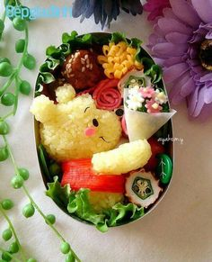 Pooh Bento Pooh Bento - Home Decor ideas &Home Garden & Diy Bento Recipes, Healthy Recipes, Bento Kids, Japanese Food Art, Japanese Bento Box, Cute Food Art, Good Food, Yummy Food, Le Diner