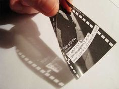 35mm film shaped business card for photographer