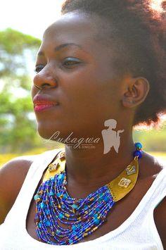 Cobalt Blue Masai Beaded NecklaceBlue Choker by Lukagwa on Etsy
