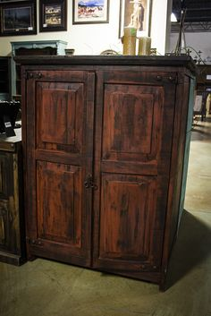 Red Barnwood Style Hidalgo Armoire. Interested in this piece? Contact us for more info: 405-947-7710