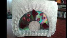 DIY: SERVILLETERO HECHO CON CDS RECICLADOS/DIY: NAPKIN HOLDER MADE WITH ...
