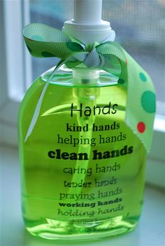 Hands soap bottle