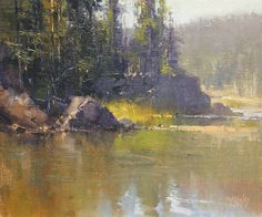sparks_lake_study,-oil by Richard McKinley Oil ~ 10 x 12