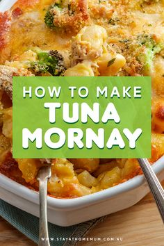 Tuna Mornay is a tremendously frugal dinner and tasty too! You can substitute the tuna for salmon if you aren't a tuna fan. Tuna Dishes, Fish Dishes, Seafood Dishes, Pasta Dishes, Seafood Recipes, Vegetarian Recipes, Cooking Recipes, Healthy Recipes, Budget Recipes