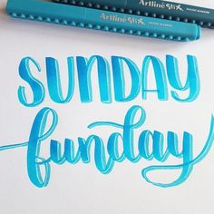 Sunday funday! Sorry for the lack of posts, I'm on a weekend get away with my family. We are going flowboarding today and bowling what are you doing today? . . . #sunday #sundayfunday #handlettering #lettering #loveforlettering #micronpen #artlinestix #artline #brushlettering #brushpen #brushletterpractice #sakura #brushletter #typography #type #dailytype #handletteren #handgeschreven #creatief #handdrawn #quote #handwriting #moderncalligraphy #calligraphy #modernekalligrafie #calligrafr