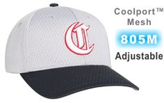 805M COOLPORT MESH ADJUSTABLE HAT BY PACIFIC HEADWEAR. HAT INCLUDES 3D  CUSTOM EMBROIDERY ON THE FRONT. ONE SET PRICE. NO SET UP FEES. FREE  SHIPPING. 7a8bcfdfbc4
